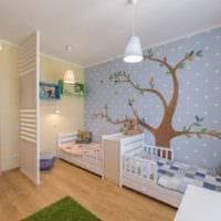 комната для разнополых детей дизайн интерьера