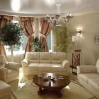 квартира в классическом стиле маленькая гостиная