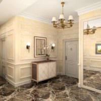 квартира в классическом стиле с мрамором
