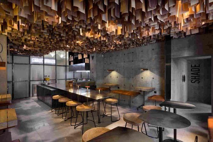 необычный дизайн кафе