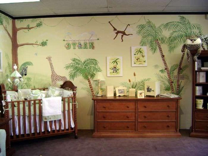 комната сафари для малыша