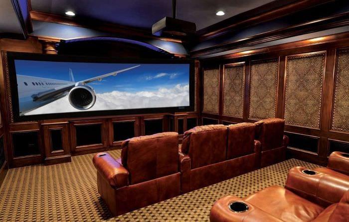 стильный дизайн домашнего кинотеатра