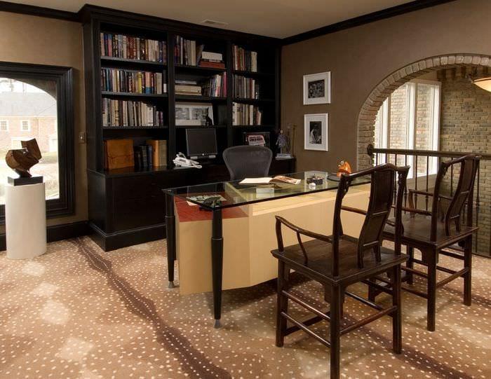уютный дизайн кабинета