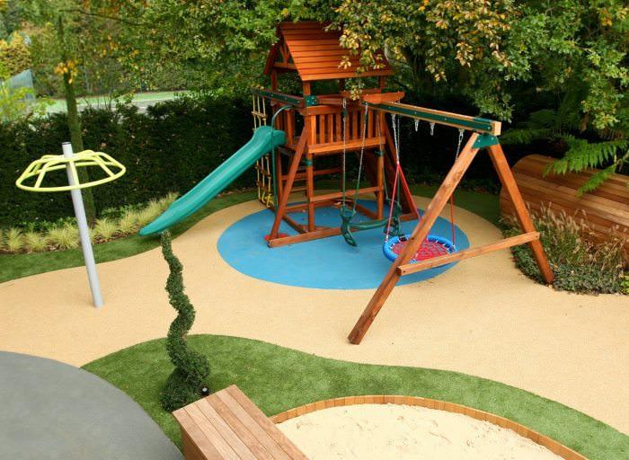 Детская площадка своими руками на садовом участке