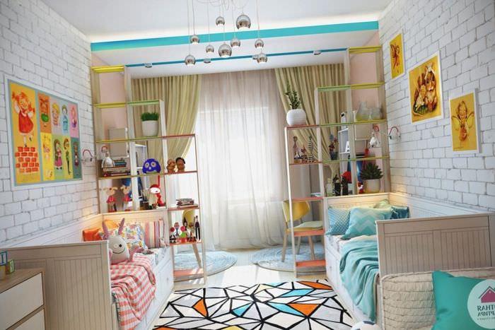 Оформление комнаты для разнополых детей своими руками