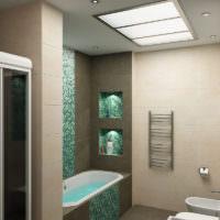 Гармоничный интерьер ванной комнаты