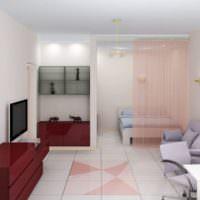 Разделение комнаты на гостиную и спальную зоны