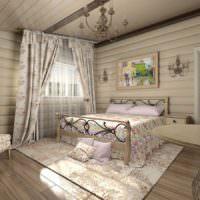 Стиль прованс в убранстве деревенской спальни