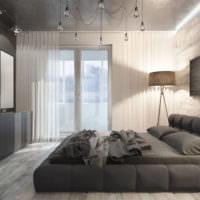 Интерьер совмещенного помещения однокомнатной квартиры