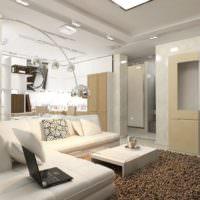 Стильное дизайнерское решение в интерьере гостиной