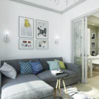 Дизайн зоны отдыха в светлых тонах