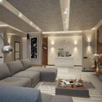 Яркие светильники для освещения гостиной комнаты