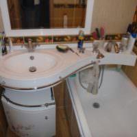 Раковина над ванной в совмещенном санузле
