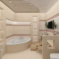 Совмещенный санузел с угловой ванной