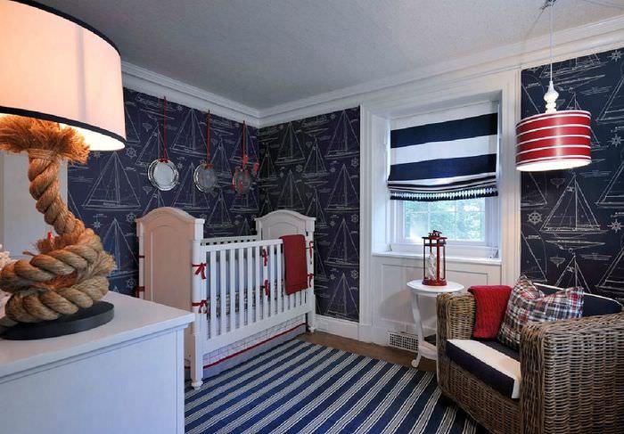 Оформление детской комнаты в насыщенных тонах