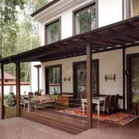 Дизайн открытой террасы для дачного дома