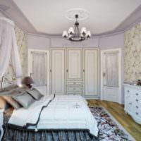 Светлая спальня загородного дома в стиле прованс