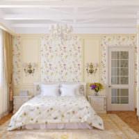 Двухспальная кровать в стиле прованс