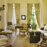 Французский стиль в убранстве гостиной загородного дома