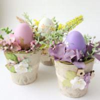 Пасхальные букеты с цветами своими руками