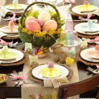 Сервировка праздничного стола к Пасхе