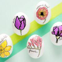 Роспись пасхальных яиц маркерами