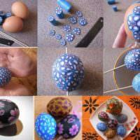 Последовательность декорирования пасхального яйца