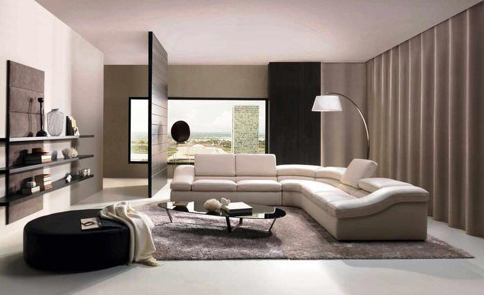 пример применения перегородки в интерьере дома