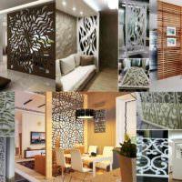 пример применения перегородки в декоре квартиры фото