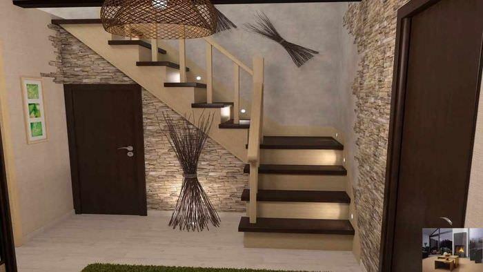 идея светлого дизайна лестницы