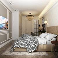 вариант красивого оформления декора стен в спальне картинка