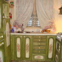 вариант светлой поделки для интерьера кухни картинка