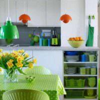 вариант необычной поделки для дизайна кухни картинка