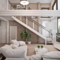 вариант яркого дизайна лестницы картинка