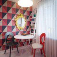 пример светлого декора комнаты в стиле поп арт фото