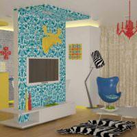 вариант необычного дизайна дома в стиле поп арт фото