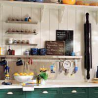пример светлой поделки для интерьера кухни фото