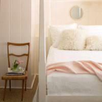 вариант сочетания красивого персикового цвета в декоре квартиры фото