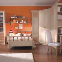 идея сочетания светлого персикового цвета в дизайне квартиры фото