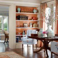 вариант сочетания красивого персикового цвета в стиле квартиры фото