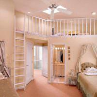 пример сочетания яркого персикового цвета в стиле квартиры картинка