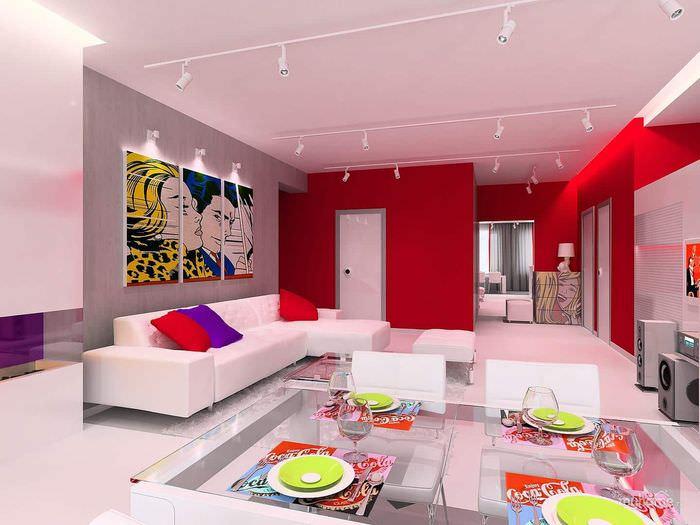 идея яркого декора квартиры в стиле поп арт