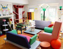 идея яркого декора квартиры в стиле поп арт картинка