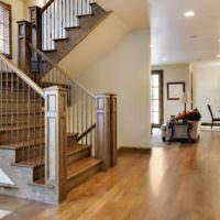 пример необычного дизайна лестницы фото