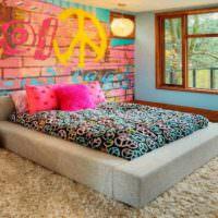 пример красивого дизайна комнаты в стиле поп арт картинка