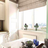 идея необычного интерьера окна на кухне картинка