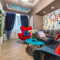 пример необычного декора квартиры в стиле поп арт фото