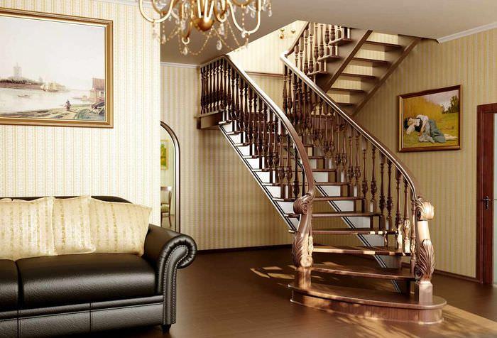 идея красивого дизайна лестницы