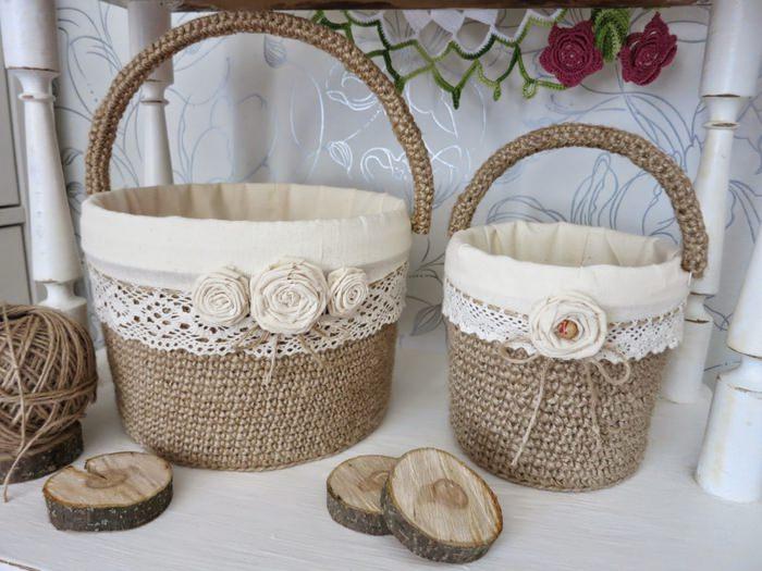 Пасхальные корзинки для декорирования интерьера