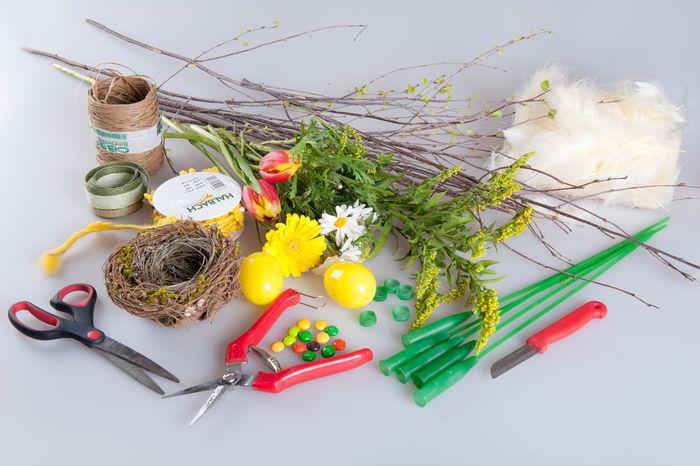 Материалы для самостоятельного изготовления пасхального венка